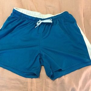 Women's Champion shorts in blue size LG